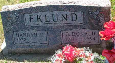 EKLUND, G. DONALD - Mellette County, South Dakota | G. DONALD EKLUND - South Dakota Gravestone Photos