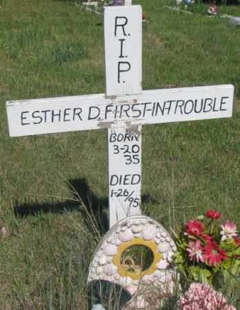 FIRST-IN-TROUBLE, ESTHER D. - Mellette County, South Dakota | ESTHER D. FIRST-IN-TROUBLE - South Dakota Gravestone Photos
