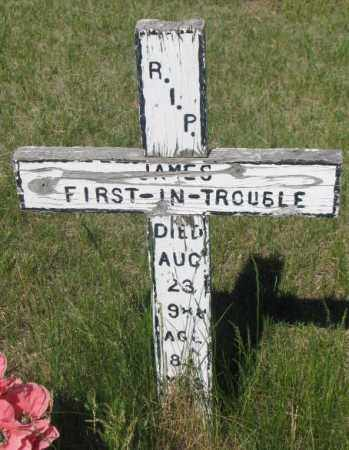 FIRST-IN-TROUBLE, JAMES - Mellette County, South Dakota | JAMES FIRST-IN-TROUBLE - South Dakota Gravestone Photos