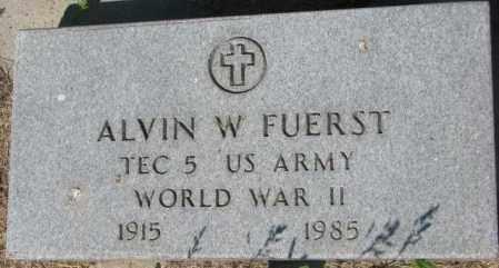 FUERST, ALVIN W. - Mellette County, South Dakota | ALVIN W. FUERST - South Dakota Gravestone Photos