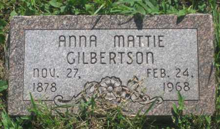 MATTIE GILBERTSON, ANNA - Mellette County, South Dakota | ANNA MATTIE GILBERTSON - South Dakota Gravestone Photos