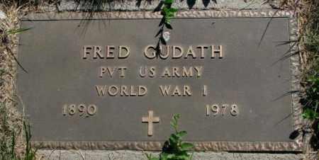 GUDATH, FRED (WW I) - Mellette County, South Dakota   FRED (WW I) GUDATH - South Dakota Gravestone Photos