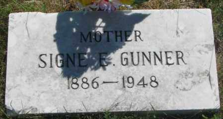GUNNER, SIGNE E. - Mellette County, South Dakota | SIGNE E. GUNNER - South Dakota Gravestone Photos