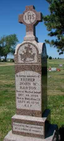 HANTON, JOHN W. - Mellette County, South Dakota | JOHN W. HANTON - South Dakota Gravestone Photos