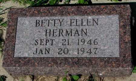 HERMAN, BETTY ELLEN - Mellette County, South Dakota | BETTY ELLEN HERMAN - South Dakota Gravestone Photos