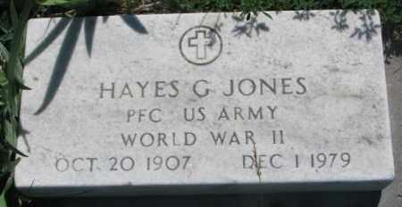 JONES, HAYES G. (WW II) - Mellette County, South Dakota   HAYES G. (WW II) JONES - South Dakota Gravestone Photos