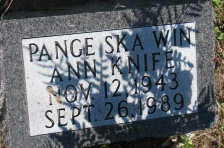 KNIFE, ANN - Mellette County, South Dakota | ANN KNIFE - South Dakota Gravestone Photos