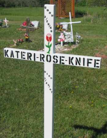 KNIFE, KATERI ROSE - Mellette County, South Dakota | KATERI ROSE KNIFE - South Dakota Gravestone Photos