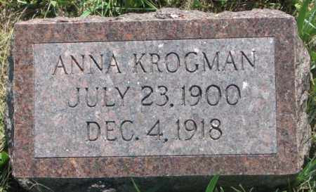 KROGMAN, ANNA - Mellette County, South Dakota   ANNA KROGMAN - South Dakota Gravestone Photos