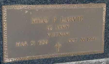 LARVIE, MILO P. - Mellette County, South Dakota   MILO P. LARVIE - South Dakota Gravestone Photos