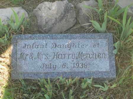 MERCHEN, INFANT DAUGHTER - Mellette County, South Dakota | INFANT DAUGHTER MERCHEN - South Dakota Gravestone Photos