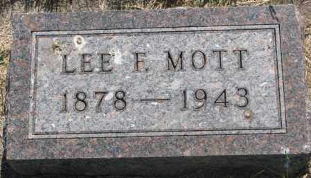 MOTT, LEE F. - Mellette County, South Dakota | LEE F. MOTT - South Dakota Gravestone Photos