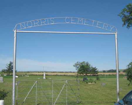 *NORRIS CEMETERY, GATE AND SIGN - Mellette County, South Dakota | GATE AND SIGN *NORRIS CEMETERY - South Dakota Gravestone Photos