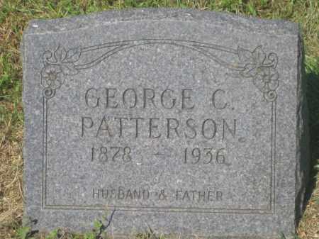 PATTERSON, GEORGE  C. - Mellette County, South Dakota   GEORGE  C. PATTERSON - South Dakota Gravestone Photos