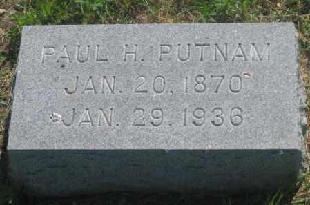 PUTNAM, PAUL  H. - Mellette County, South Dakota | PAUL  H. PUTNAM - South Dakota Gravestone Photos