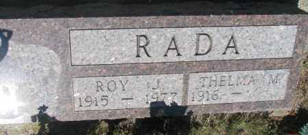 RADA, THELMA M. - Mellette County, South Dakota   THELMA M. RADA - South Dakota Gravestone Photos
