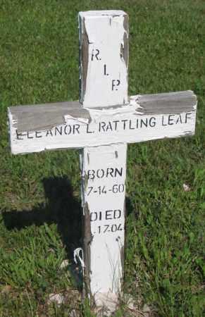 RATTLING LEAF, ELEANOR L. - Mellette County, South Dakota | ELEANOR L. RATTLING LEAF - South Dakota Gravestone Photos