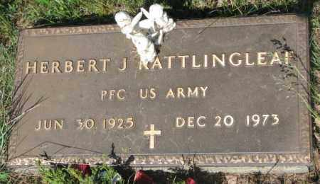 RATTLINGLEAF, HERBERT J. - Mellette County, South Dakota | HERBERT J. RATTLINGLEAF - South Dakota Gravestone Photos