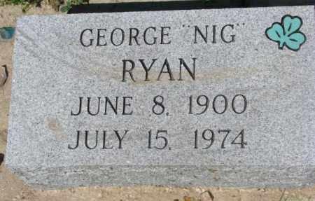 "RYAN, GEORGE ""NIG"" - Mellette County, South Dakota | GEORGE ""NIG"" RYAN - South Dakota Gravestone Photos"