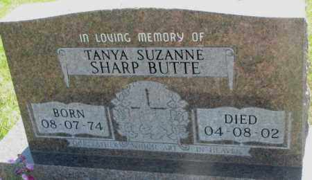 SHARP BUTTE, TANYA SUZANNE - Mellette County, South Dakota | TANYA SUZANNE SHARP BUTTE - South Dakota Gravestone Photos