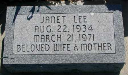 STRAIN, JANET LEE - Mellette County, South Dakota | JANET LEE STRAIN - South Dakota Gravestone Photos