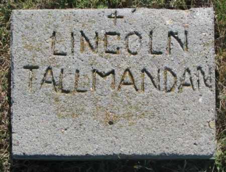 TALLMANDAN, LINCOLN - Mellette County, South Dakota | LINCOLN TALLMANDAN - South Dakota Gravestone Photos