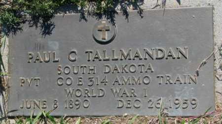 TALLMANDAN, PAUL C. - Mellette County, South Dakota | PAUL C. TALLMANDAN - South Dakota Gravestone Photos