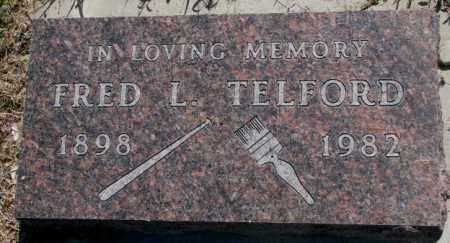 TELFORD, FRED L. - Mellette County, South Dakota | FRED L. TELFORD - South Dakota Gravestone Photos