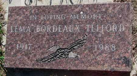 BORDEAUX TELFORD, LEMA - Mellette County, South Dakota | LEMA BORDEAUX TELFORD - South Dakota Gravestone Photos