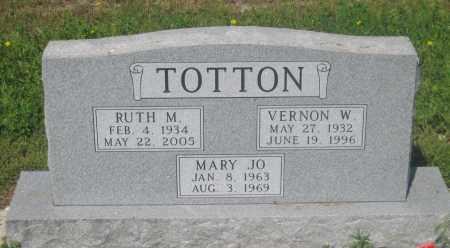 TOTTON, VERNON  W. - Mellette County, South Dakota | VERNON  W. TOTTON - South Dakota Gravestone Photos