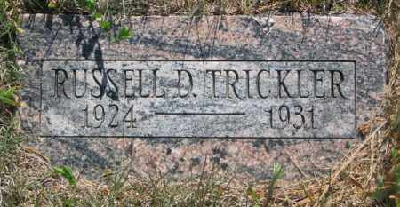 TRICKLER, RUSSELL D. - Mellette County, South Dakota | RUSSELL D. TRICKLER - South Dakota Gravestone Photos