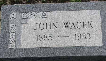 WACEK, JOHN - Mellette County, South Dakota   JOHN WACEK - South Dakota Gravestone Photos