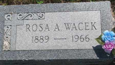 WACEK, ROSA A. - Mellette County, South Dakota | ROSA A. WACEK - South Dakota Gravestone Photos