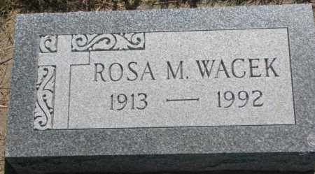 WACEK, ROSA M. - Mellette County, South Dakota | ROSA M. WACEK - South Dakota Gravestone Photos