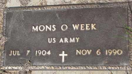 WEEK, MONS O. - Mellette County, South Dakota | MONS O. WEEK - South Dakota Gravestone Photos