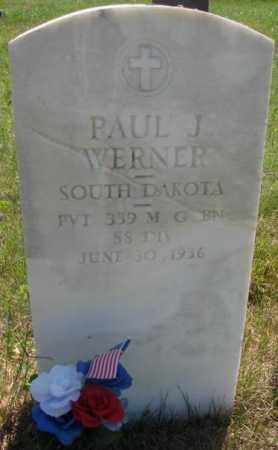 WERNER, PAUL J. - Mellette County, South Dakota | PAUL J. WERNER - South Dakota Gravestone Photos
