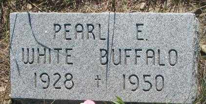 WHITE BUFFALO, PEARL E. - Mellette County, South Dakota | PEARL E. WHITE BUFFALO - South Dakota Gravestone Photos