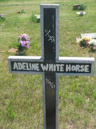 WHITE HORSE, ADELINE - Mellette County, South Dakota | ADELINE WHITE HORSE - South Dakota Gravestone Photos
