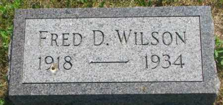 WILSON, FRED D. - Mellette County, South Dakota | FRED D. WILSON - South Dakota Gravestone Photos