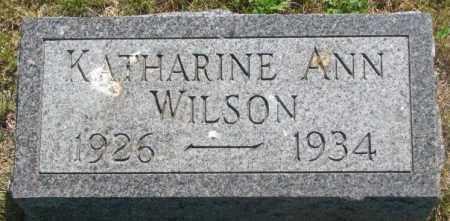 WILSON, KATHARINE ANN - Mellette County, South Dakota   KATHARINE ANN WILSON - South Dakota Gravestone Photos