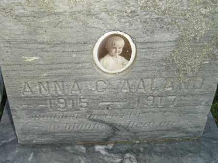 AALAND, ANNA G. - Miner County, South Dakota | ANNA G. AALAND - South Dakota Gravestone Photos