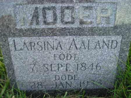 AALAND, LARSINA - Miner County, South Dakota | LARSINA AALAND - South Dakota Gravestone Photos