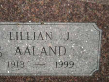 AALAND, LILLIAN J. - Miner County, South Dakota | LILLIAN J. AALAND - South Dakota Gravestone Photos