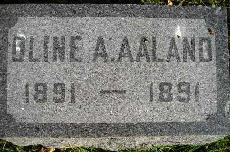 AALAND, OLINE A. - Miner County, South Dakota | OLINE A. AALAND - South Dakota Gravestone Photos