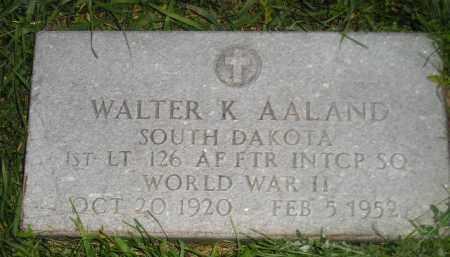 AALAND, WALTER K. (WW II) - Miner County, South Dakota | WALTER K. (WW II) AALAND - South Dakota Gravestone Photos