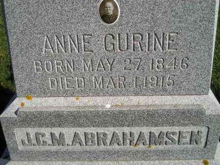 ABRAHAMSEN, ANNE GURINE - Miner County, South Dakota | ANNE GURINE ABRAHAMSEN - South Dakota Gravestone Photos