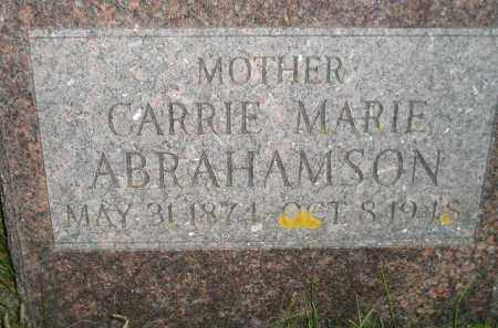 ABRAHAMSON, CARRIE MARIE - Miner County, South Dakota | CARRIE MARIE ABRAHAMSON - South Dakota Gravestone Photos