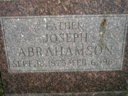 ABRAHAMSON, JOSEPH - Miner County, South Dakota | JOSEPH ABRAHAMSON - South Dakota Gravestone Photos