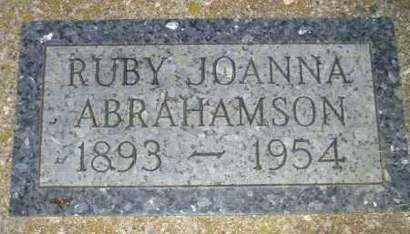 ABRAHAMSON, RUBY JOANNA #2 - Miner County, South Dakota   RUBY JOANNA #2 ABRAHAMSON - South Dakota Gravestone Photos