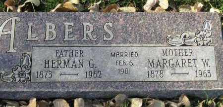 ALBERS, HERMAN G. - Miner County, South Dakota | HERMAN G. ALBERS - South Dakota Gravestone Photos